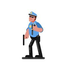 police sketch officer vector image