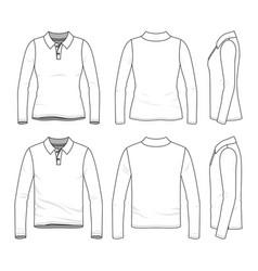 set of polo shirts vector image vector image