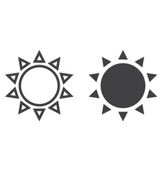 sun line and glyph icon easter and holiday vector image vector image