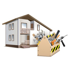 Toolbox and House vector image vector image