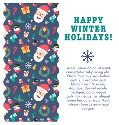 Christmas Card Wave vector image vector image