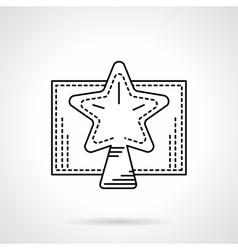 Christmas star black linear icon vector image