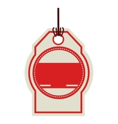 Color price tag with red background circle vector