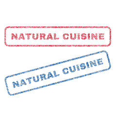 natural cuisine textile stamps vector image vector image
