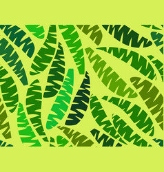 seamless palm leaves tropical jungle summer vector image vector image