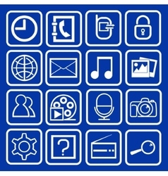 set of icons mobile vector image vector image