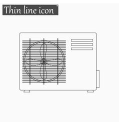 Air conditioner icon Style thin line vector image vector image