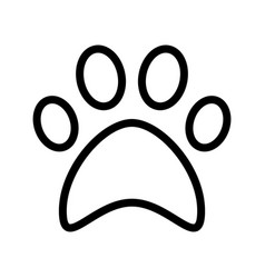 cat paw print flat icon symbol vector image