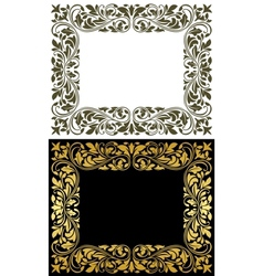 Floral frame in retro style vector image