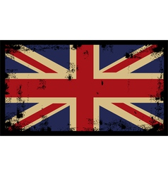 Grunge British Background 2 vector image vector image