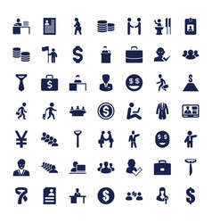 49 businessman icons vector