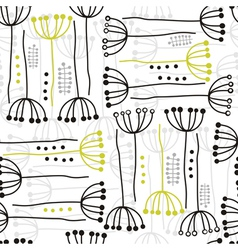 Abstract hand drawn wild flower patterns vector image