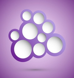 Abstract violet speech bubble background vector image
