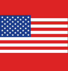 American or united states flag banner vector