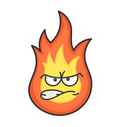 Angry fireball cartoon vector