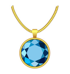 aquamarine necklace icon realistic style vector image