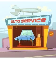 Auto Service Building Background vector image