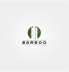 bamboo logo template creative design for business vector image
