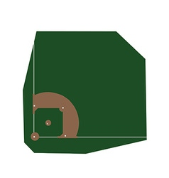 Baseball field vector