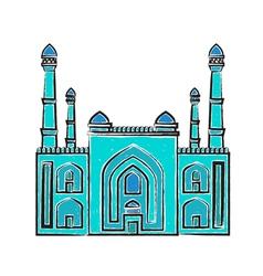 Blue Mosque iilustration vector