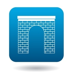 Brick arch icon simple style vector