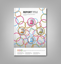 Brochures book or flyer with colored rings and vector