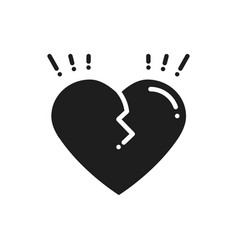 broken heart line icon sign and symbol love end vector image