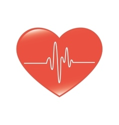 Cardio pulse heart isolated design vector