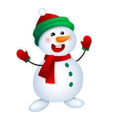 Christmas snowman snowman vector