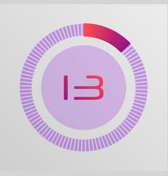 circular interval timer vector image