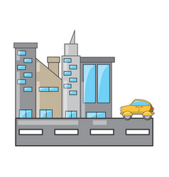 city buildings design concept vector image