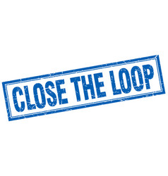 Close the loop square stamp vector