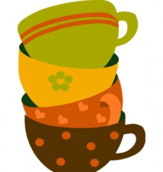 coffee cups vector image vector image