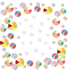 colorful balloons background vector image