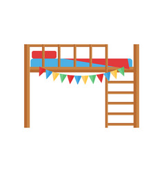 comfortable bunk bed cozy baby room decor children vector image vector image