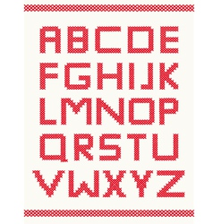 Cross stitch alphabet vector