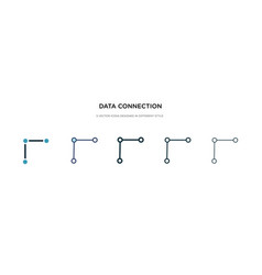 data connection icon in different style two vector image