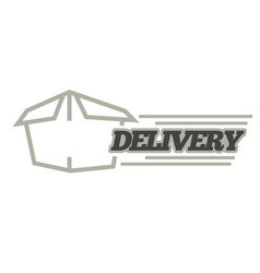Delivery logo template isolated icon for vector