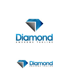 diamond logo template vector image