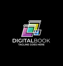 digital book design template vector image