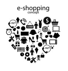 e-shopping concept icons vector image