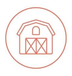 Farm building line icon vector image