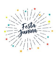 Festa junina stars decoration background vector