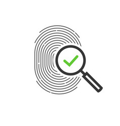 fingerprint identification check or access vector image