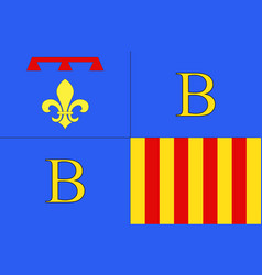 Flag of brignoles in var is a department of france vector