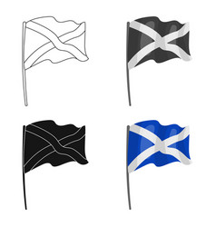 Flag of scotland icon in cartoon style isolated on vector