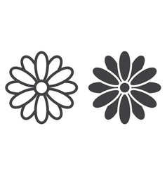 flower line and glyph icon easter and holiday vector image