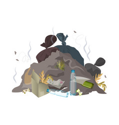 Garbage dump trash rubbish and waste environment vector