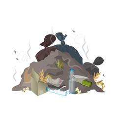 garbage dump trash rubbish and waste environment vector image