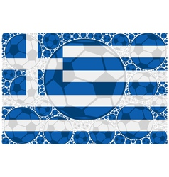 Greece soccer balls vector